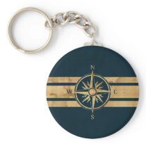 MarineThemeCompass-02Done Keychain