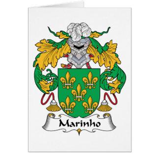 Marinho Family Crest Card