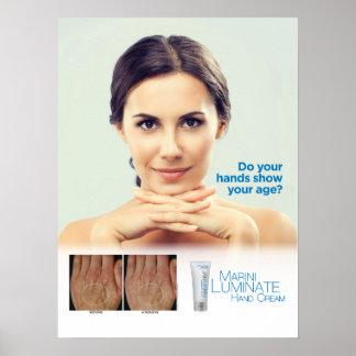 """Marini Luminate Hand Cream 18x24"""" Poster"""