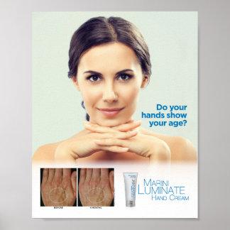 """Marini Luminate Hand Cream 8x10"""" Poster"""