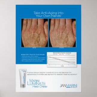 """Marini Luminate Hand Cream Results 18x24"""" Poster"""