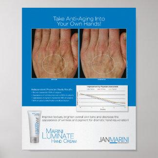 """Marini Luminate Hand Cream Results 8x10"""" Poster"""