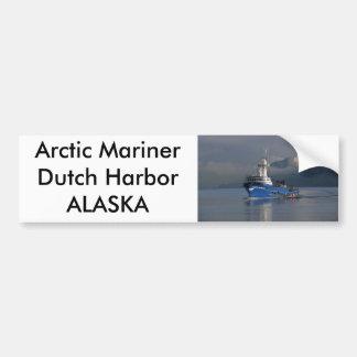 Marino ártico, barco del cangrejo en el puerto hol pegatina para auto