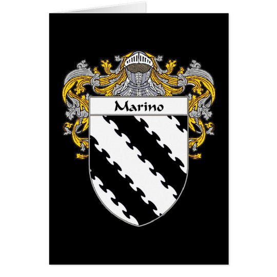 Marino Coat of Arms (Mantled) Card