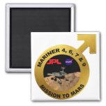 Marino: ¡Las puntas de prueba de Marte tempranas! Imán Para Frigorífico