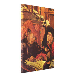 Marinus van Reymerswaele - Two tax collectors Canvas Print