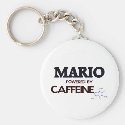 Mario accionó por el cafeína llavero redondo tipo pin