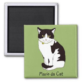 Mario da Cat Fridge Magnet