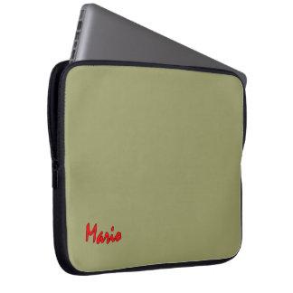 Mario Laptop sleeve in Green