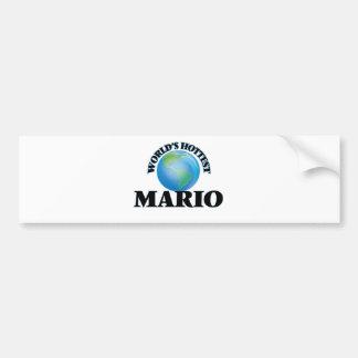 Mario más caliente del mundo pegatina para auto