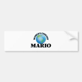 Mario más fresco del mundo pegatina para auto
