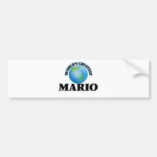 Mario más grande del mundo etiqueta de parachoque