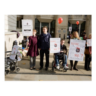 mario mitsis-uk demo group postcard