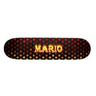 Mario skateboard fire and flames design.
