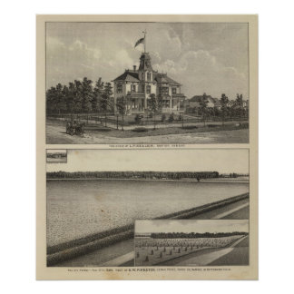 Marion and Valley Farm, Kansas Print