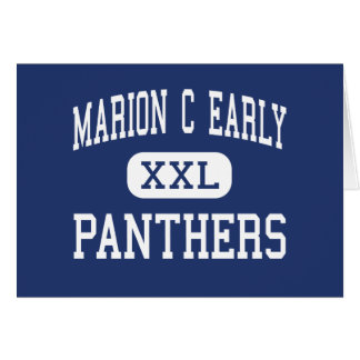 Marion C Early - Panthers - High - Morrisville Cards