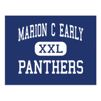 Marion C Early - Panthers - High - Morrisville Post Card
