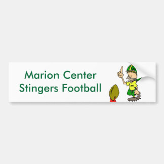 Marion Center Stingers Football Bumper Sticker