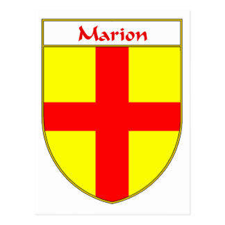 Marion Coat of Arms/Family Crest Postcard