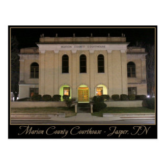 Marion County Courthouse - Jasper, TN Postcard