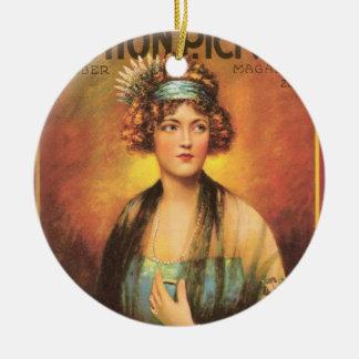 Marion Davies 1919 Adorno Navideño Redondo De Cerámica