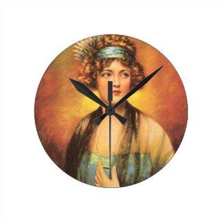 Marion Davies 1919 vintage portrait Clock