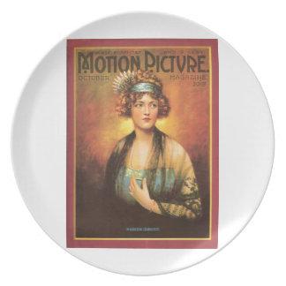 Marion Davies 1919 vintage portrait Party Plates