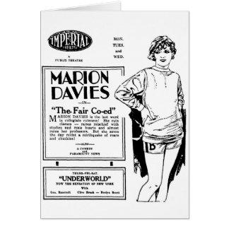 Marion Davies el CO-ED JUSTO 1927 Tarjeta De Felicitación
