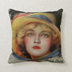 Marion Davies, Famous Film Star Throw Pillow