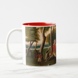 Marion Feasting the British Officer Two-Tone Coffee Mug