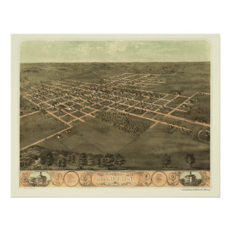 Marion, IA Panoramic Map - 1868 Posters