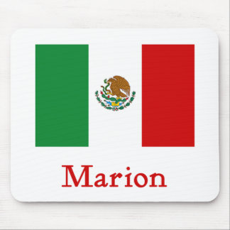 Marion Mexican Flag Mouse Pad