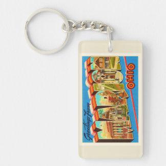 Marion Ohio OH Old Vintage Travel Souvenir Keychain