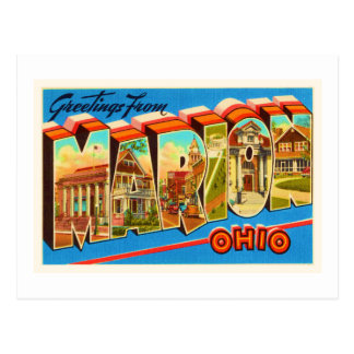 Marion Ohio OH Old Vintage Travel Souvenir Postcard