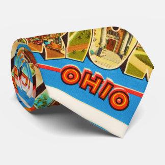 Marion Ohio OH Old Vintage Travel Souvenir Tie