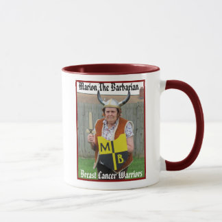 Marion The Barbarian Breast Cancer Warrior Mugs