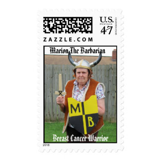 Marion The Barbarian Breast Cancer Warrior Stamps