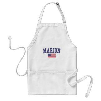 Marion US Flag Adult Apron