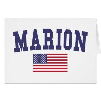 Marion US Flag Card