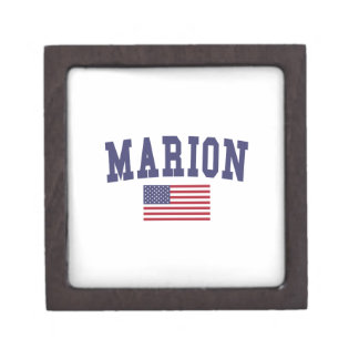Marion US Flag Jewelry Box