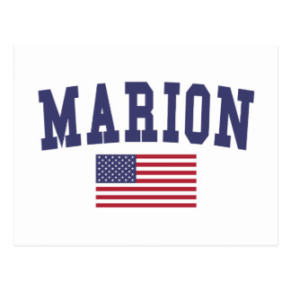Marion US Flag Postcard