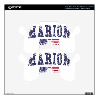 Marion US Flag PS3 Controller Skins