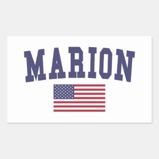 Marion US Flag Rectangular Sticker