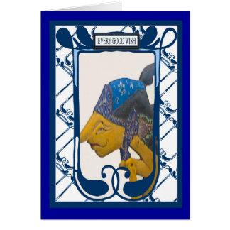 Marioneta china de la sombra, cada buen deseo tarjeta
