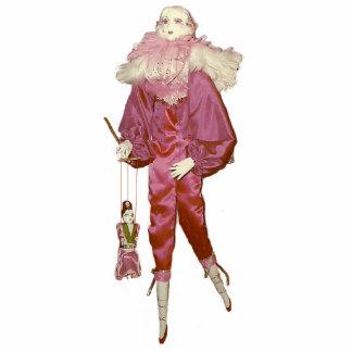 Marioneta con la muñeca china escultura fotográfica