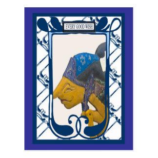 Marioneta de la sombra, cada buen deseo tarjetas postales