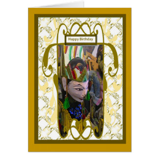Marioneta de la sombra de Wayang, cada buen deseo Tarjeta
