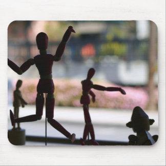 Marioneta de madera alfombrilla de ratón