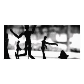 """Marioneta de madera BW Folleto Publicitario 4"""" X 9"""""""