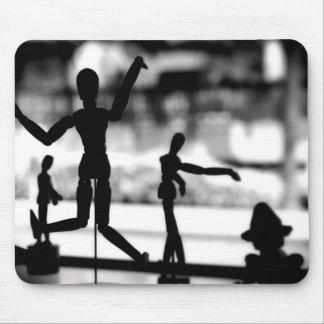 Marioneta de madera BW Tapete De Ratones